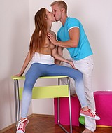 Tight teen snatch creampied